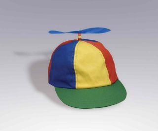 BEANIE HAT CAP MULTI COLOR CLOWN COSTUME HAT BLUE YELLOW RED GREEN