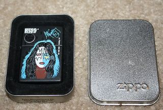 Vintage Kiss Ace Frehley Zippo Lighter with Original Metal Box and