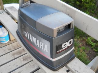 93 yamaha 90 hp ttr outboard engine cover hood coul
