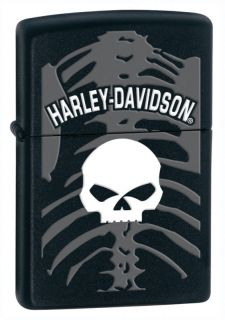 Zippo Harley Davidson Skull Lighter, Black Matte, Low Shipping