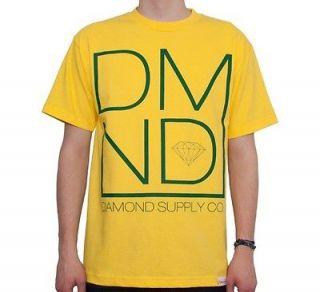 Diamond Supply Co. Mod Yellow Green T Shirt og logo DMND smoke rings