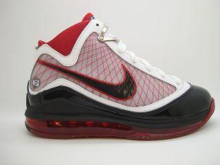 375793 101] Boys Youth Nike Zoom Lebron 7 White Black Varsity Red