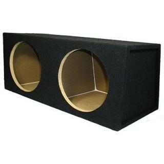 12 Sealed Black Dual Sub Car Truck Speaker Bass Box 12D