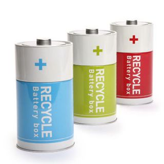 Save Earth Gift Tin Recycle Battery Storage Boxe Decor Home Office