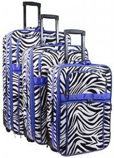 zebra print luggage in Luggage