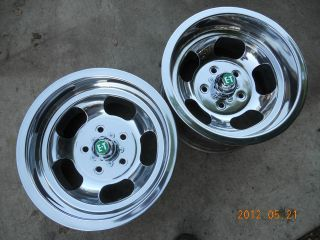 NEWLY POLISHED 15x8.5 ANSEN SLOT MAG WHEELS CHEVELLE CAMARO MAGS