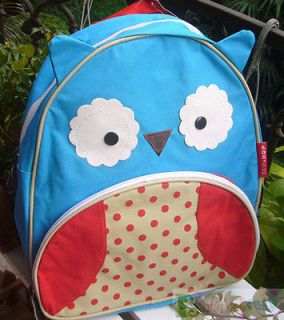 STYLISH CHILDREN SCHOOL BACKPACK 2 ZIPPERS ~LITTLE BLUE OWL ~ RARE