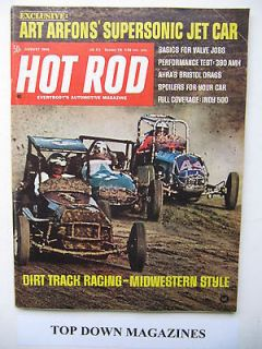 Hot Rod August 1968 Midwestern Style Dirt Track Racing Art