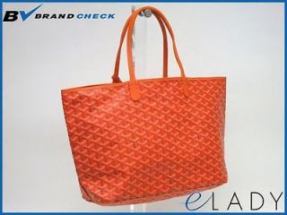 Auth GOYARD SAINT LOUIS PM TOTE BAG CANVAS/LEATHER ORANGE (BF037124)
