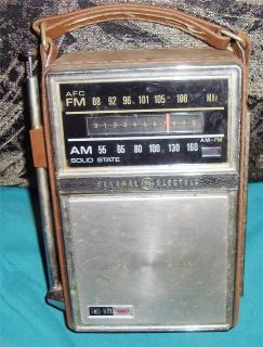 General Electric AM/FM Solid State Radio 2 Way Power Model# PQ77E