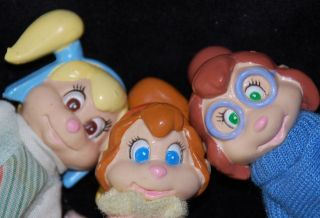 COMPLETE Vintage Alvin Chipmunks Chipettes Poseable BRITTANY JEANETTE