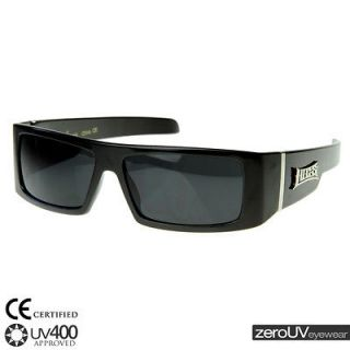 gangster hip hop rapper og locs shades sunglasses 8107 black + pouch