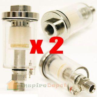 Lot 2 Air Oil Water Separator Trap Filter Seperator 1/4 NPT Air