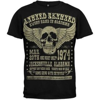 Lynyrd Skynyrd   Alabama 74 T Shirt Music Band Tee Shirt