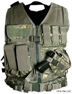 NcStar Tactical Vest Digital Camo Military Special Forces Swat Police
