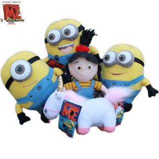 Me Souvenirs Minion Unicorn Agnes 5x Plush Stuffed Animal Teddy sport