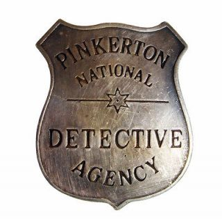 old west 1900s PINKERTON DETECTIVE AGENCY police BADGE