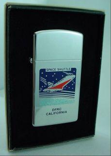 1978 Space Shuttle Slim Line ZIPPO LIGHTER KSC Kennedy Space Center