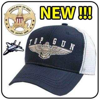 NEW TOPGUN MESH BASEBALL CAP US TOP GUN LAW COSTUME HAT