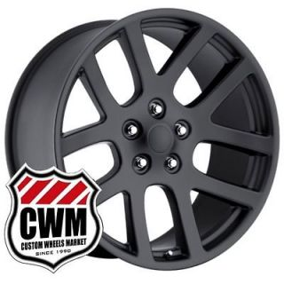 22x10 Dodge Ram SRT 10 Matte Black Replica Wheels Rims fit Ram 1500