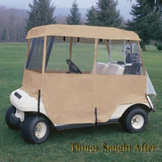 DLX 4 SIDED 2 PASSENGER GOLF CAR ENCLOSURE Cart Cover