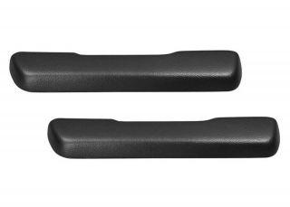 68 72 Nova Arm Rest Pads New Pair Black (Fits Chevrolet)