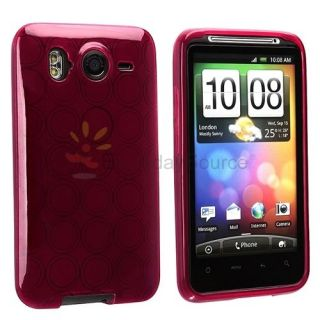 Red Argyle TPU Candy Skin Case Cover For HTC Inspire 4G