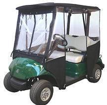 29 3X4 DELUXE GOLF CART ENCLOSURE W/CS GREEN ONLY GOOD COND