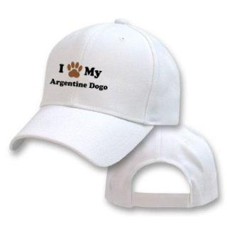 LOVE MY ARGENTINE DOGO ANIMAL BIRD PET CAT DOG EMBROIDERED HAT CAP
