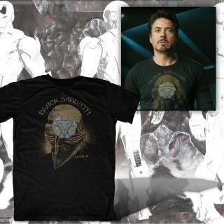 Black Sabbath ARC Reactor Iron ManTony Stark Robert Downey Jr. The