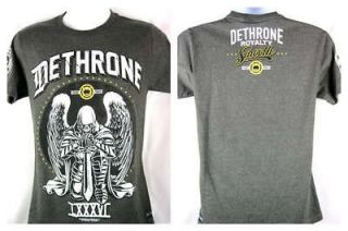 Henderson UFC Dethrone Royalty Smooth Angel Charcoal Gray T shirt New