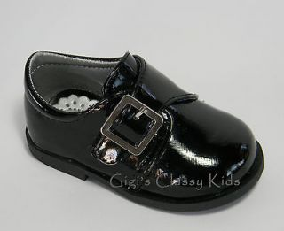 New Toddler Boys Black Formal Dress Shoes Size 7 Suit Tuxedo Party