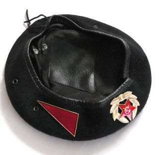 Soviet Russian Military Army Special Forces Uniform Black Beret Hat