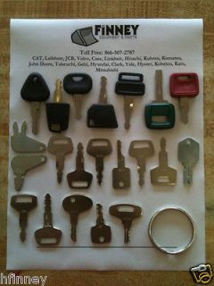 Construction Equipment key set John Deere Hitachi JD JCB excavator