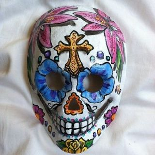 Newly listed Sugar Skull Mask Day Of The Dead Dia De Los Muertos Hand