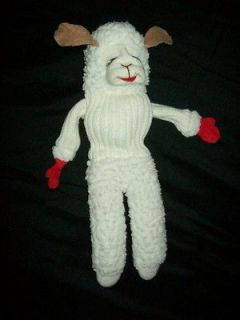 Vintage Lamb Chop Play Along Sheri Lewis Hand Puppet Lamb Used Classic