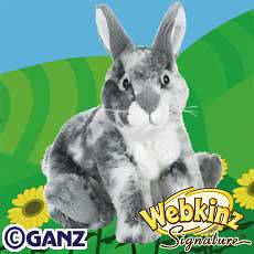 Webkinz Signature ENGLISH SPOT BUNNY ~ New w/ Sealed Unused Code Tag