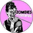 AUDREY HEPBURN ZOMBIES AT TIFANYs 2.25 pinback button badge magnet