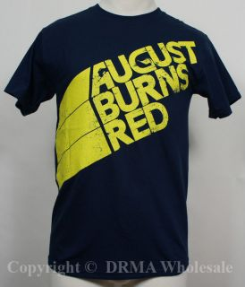Authentic AUGUST BURNS RED Stripes Logo T SHIRT S M L XL NEW
