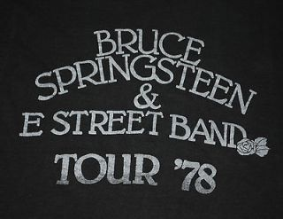VINTAGE BRUCE SPRINGSTEEN & THE E STREET BAND TOUR 78 T  SHIRT 1978