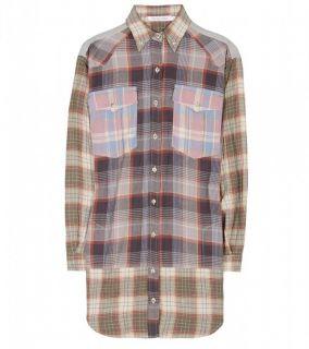 NWT ISABEL MARANT ETOILE Meg Plaid Flannel Shirt Dress Size 38/Small