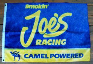 SMOKIN JOES RACING VINTAGE NASCAR FLAG RARE USED