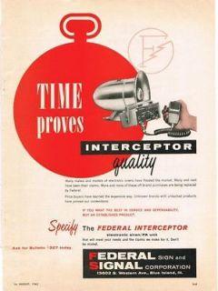 1963 Federal Signal Siren Interceptor PA Unit AD on PopScreen on