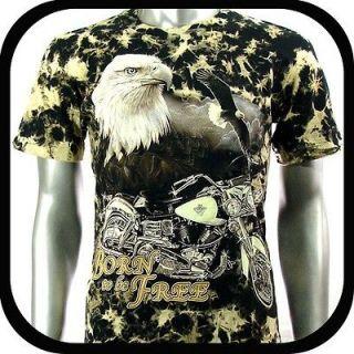 Rock Eagle T Shirt Biker Motorcycle Tattoo Vtg RE3 Sz L Rider Indie