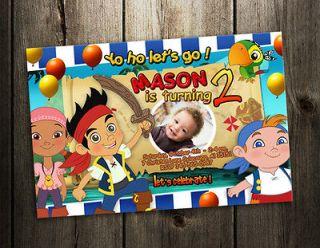 THE NEVERLAND & BIRTHDAY PARTY INVITATION CARD CUSTOM INVITE 1ST PHOTO