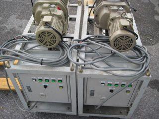Vacuum Pump Sets ULVAC blower with Mitsubishi Rotary Vacuum Pump