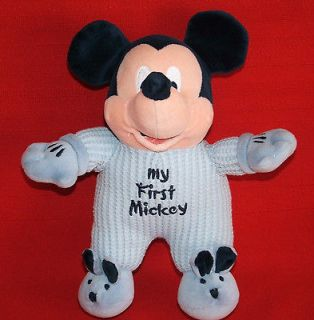 BLUE THERMAL MY FIRST MICKEY MOUSE Plush Baby Toy RATTLE