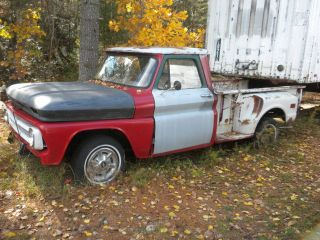 1964 Chevy pickup 8 stepside truck,rebuilt 6 cyl 250 motor,partial
