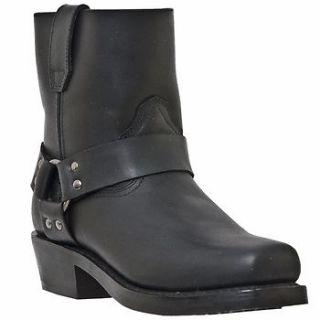 Dingo DI19090 Mens Black Leather Harness Boots Sz 8.5 D