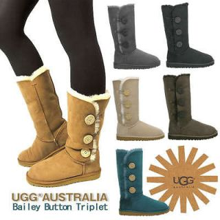 Bailey Button Australia UGGs boots BLACK&Chestnut Tall US size 5,6,7,8